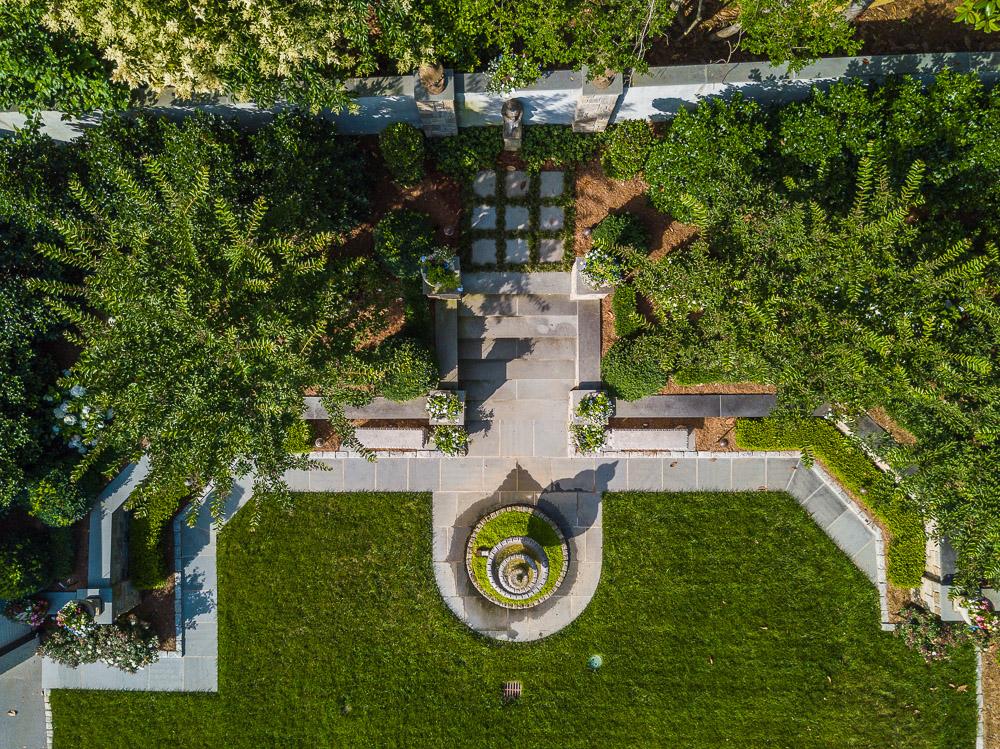 Formal Garden Aerial View